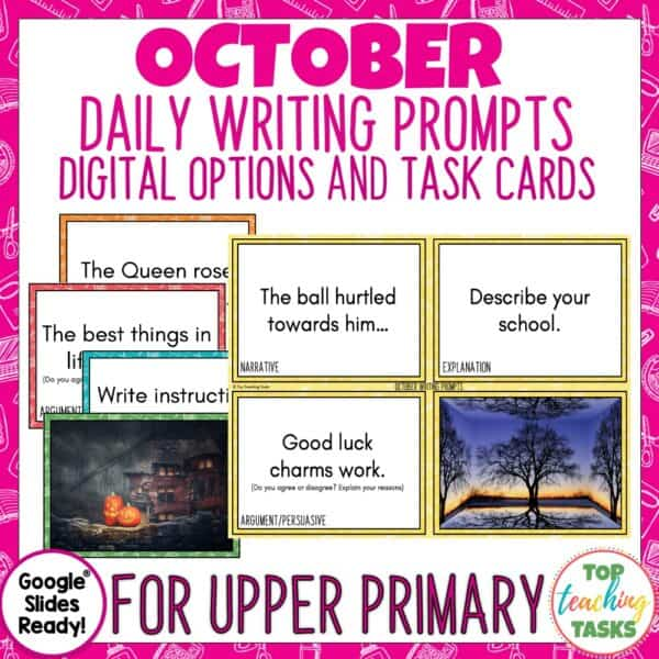October Writing Prompts 1