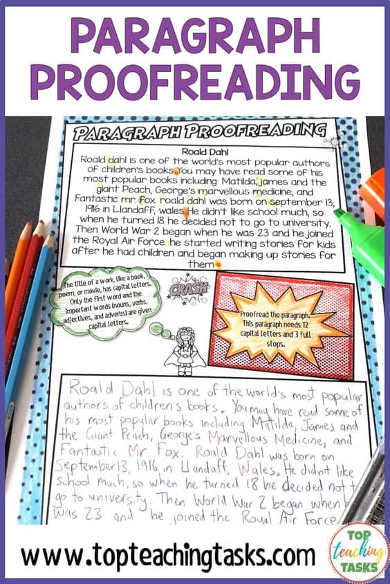 Punctuation Proofreading Activities. Help to reinforce punctuation rules and the importance of proofreading with these engaging superhero-themed proofreading practice printables. Twenty engaging paragraphs are provided, each with their own punctuation focus and helpful hints section. Students proofread the paragraph and then rewrite it in the space provided.