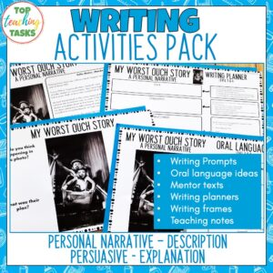 Writing Activities Pack