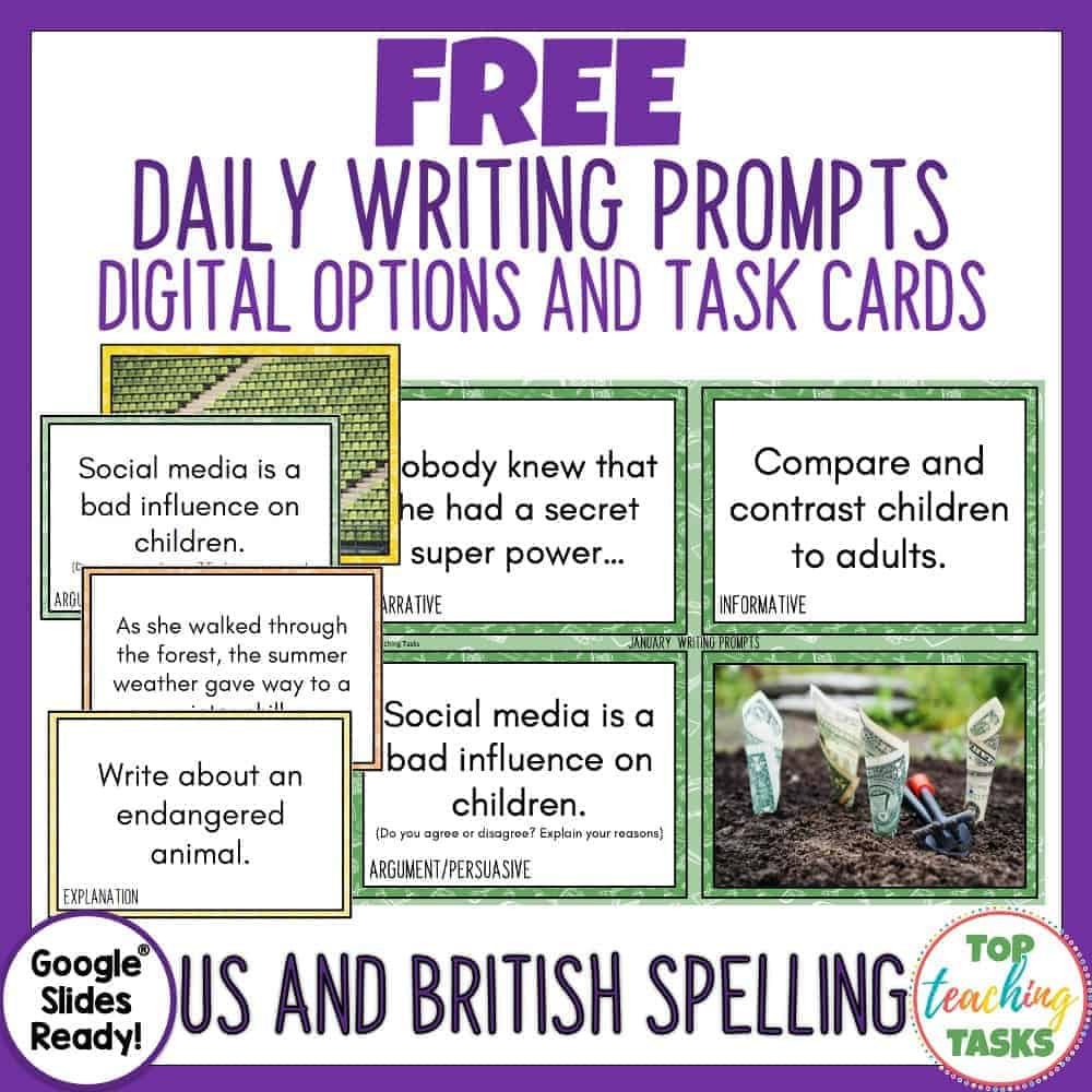 Free Daily Writing Prompts