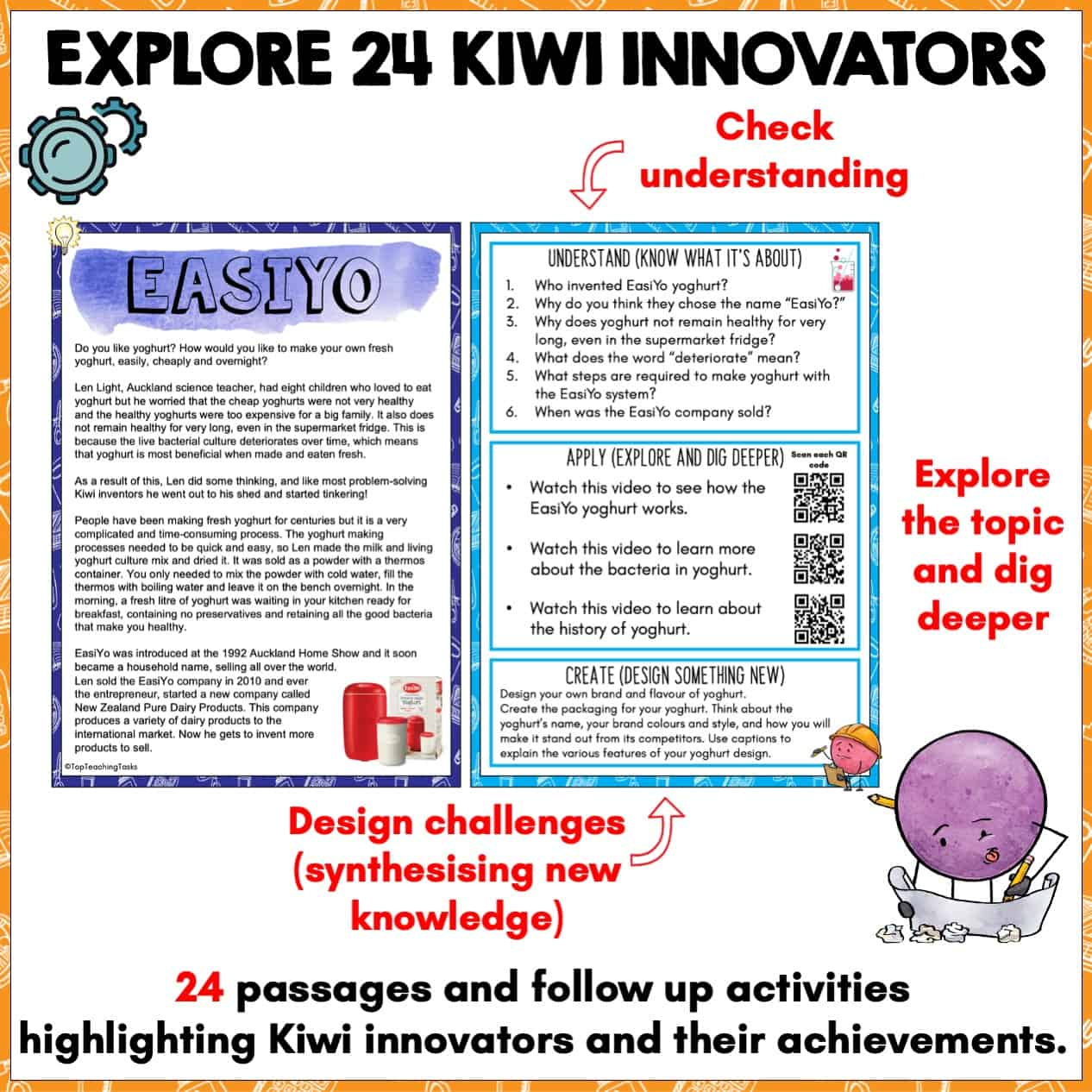 Kiwi Innovators Unit. Kiwi Innovators Unit. Explore some of the fascinating Kiwi innovators and inventions that have been created in New Zealand's history. In this Kiwi Innovators unit, students will learn about 24 New Zealand Inventors and their creative ideas, apply this knowledge by exploring digital links, and put their own design skills to the test with creative challenges.