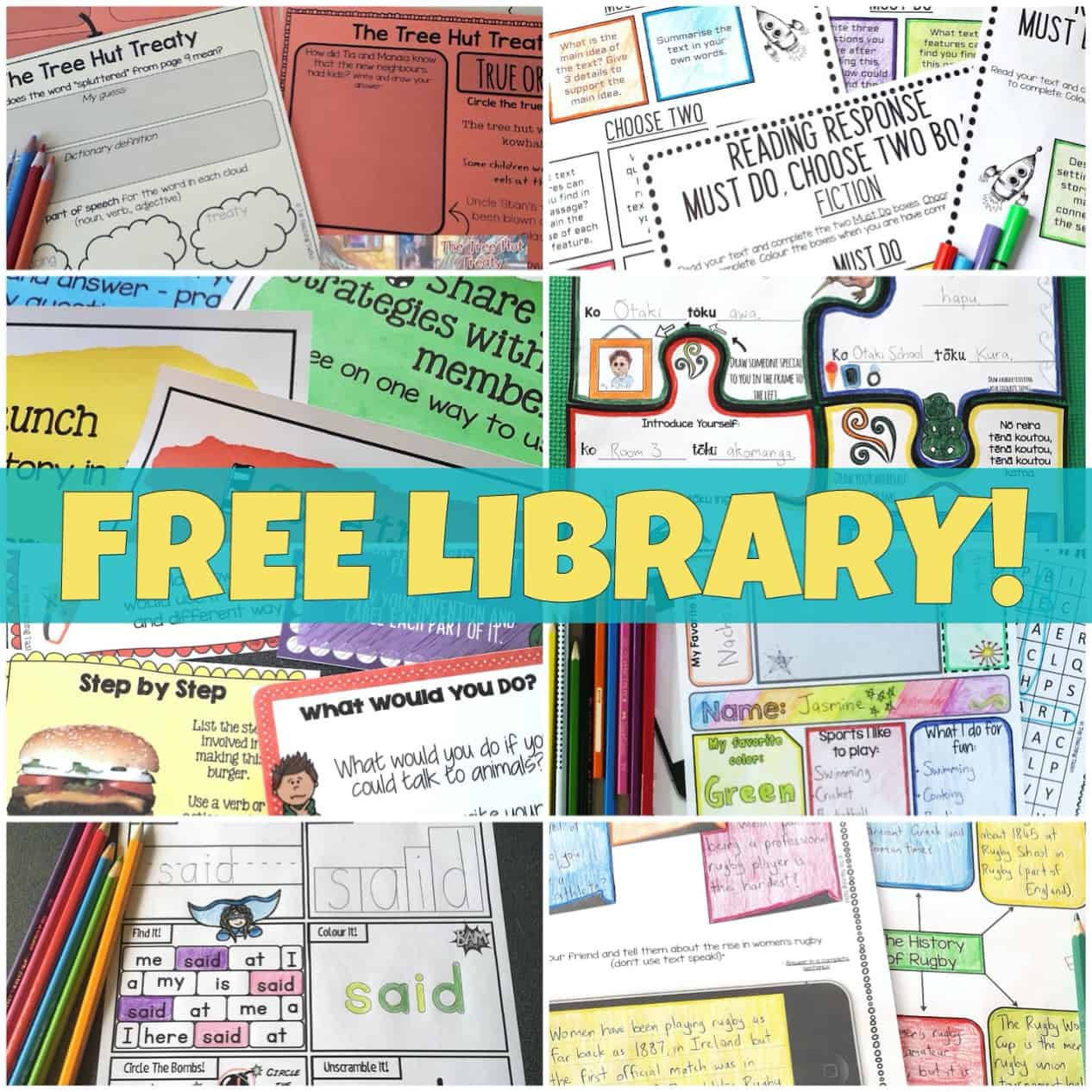Sign up for our Freebie Library
