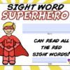 Sight Words Certificates 3