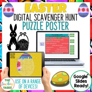 Easter Digital Reading Comprehension Activities