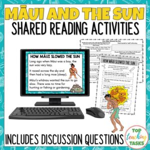 Maui and the sun shared reading