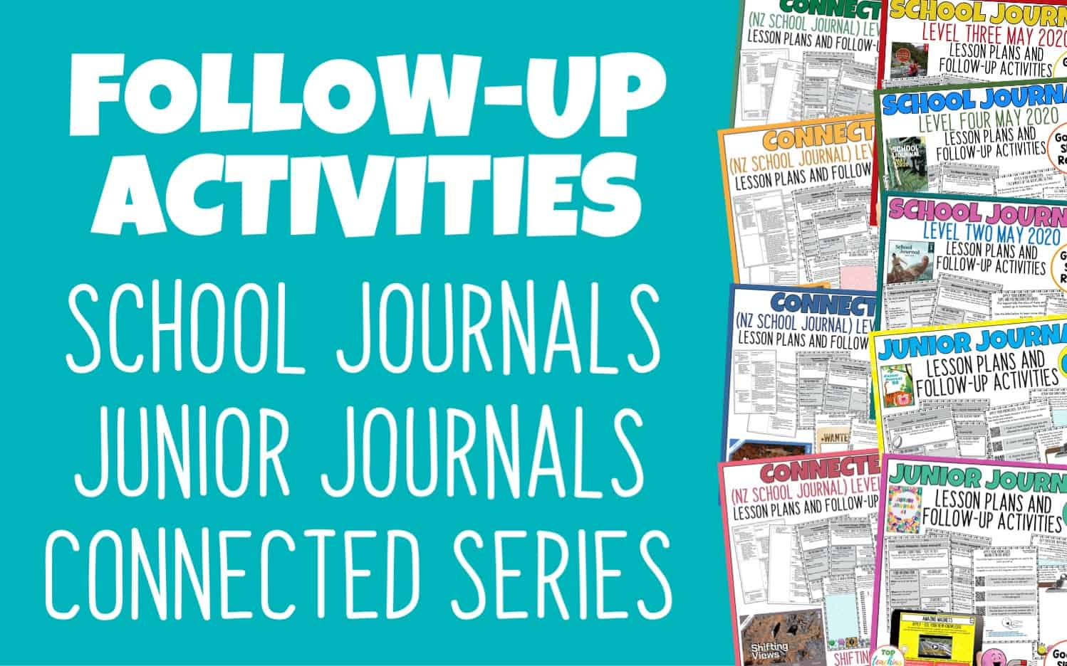 School Journal Follow Up Activities. Our NZ School Journal Activities cover all current Level 2, Level 3, and Level 4 School Journals and are provided in both print and digital form. Each follow-up activity pack provides a lesson plan and three activities pages featuring higher-order thinking skills. New packs will be added as New Zealand School Journals are published.