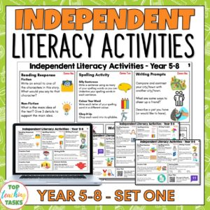 Independent Literacy Activities Print and Digital