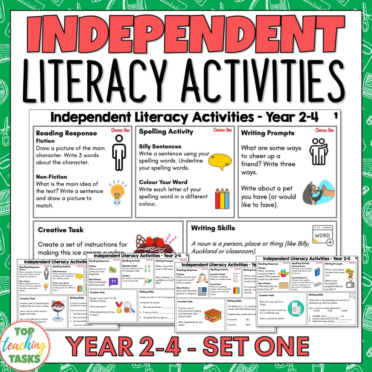 Independent Literacy Activities Year 2-4