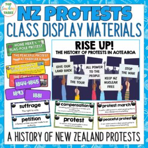 NZ Protests Display Materials