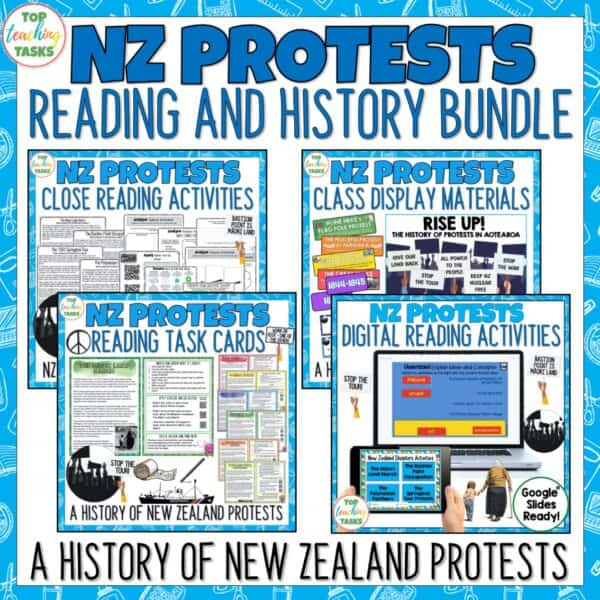NZ Protests Reading and History Bundle