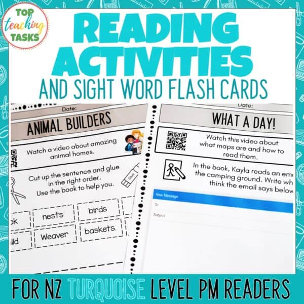Turquoise PM Reading Activities 1