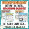 Independent Literacy Activities Growing Bundle