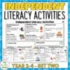 Independent Literacy Activities Years 2 4 set two