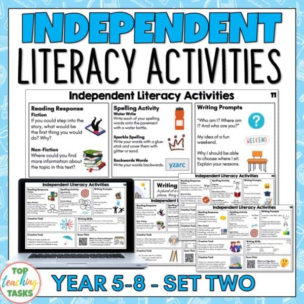 Independent Literacy Activities Years 5 8 set two