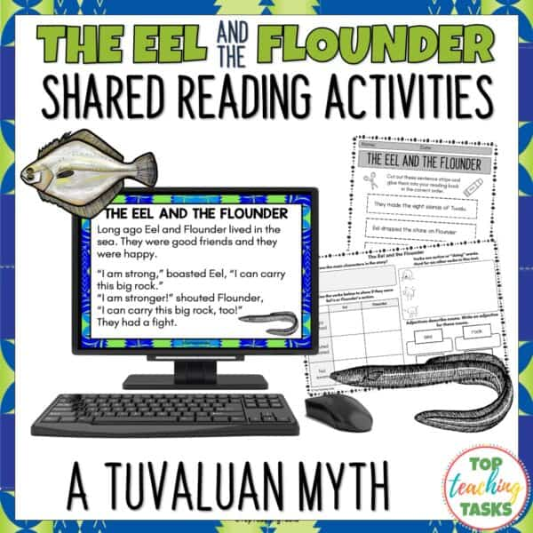 The Eel and the Flounder Tuvalu Myth